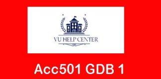 Acc501 GDB 1 Solution Spring 2020