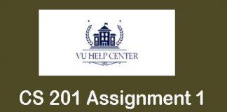 CS 201 Assignment 1 Solution 2020