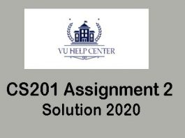 CS201 Assignment 2 Solution 2020