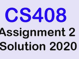 CS408 Assignment 2 Solution 2020