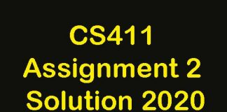 CS411 Assignment 2 Solution 2020