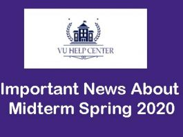 Important News About Midterm Spring 2020