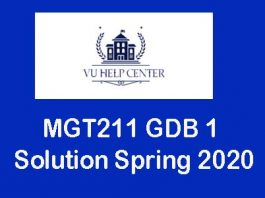 MGT211 GDB 1 Solution Spring 2020