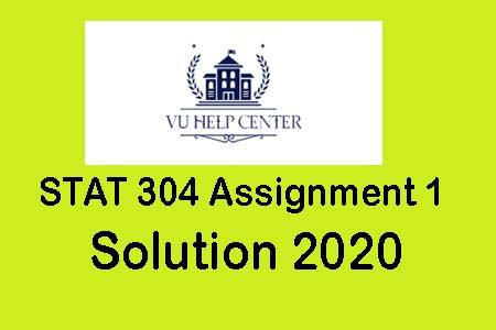 STA304 GDB 1 Solution Spring 2020