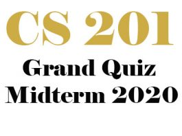 Cs201 Grand quiz Midterm