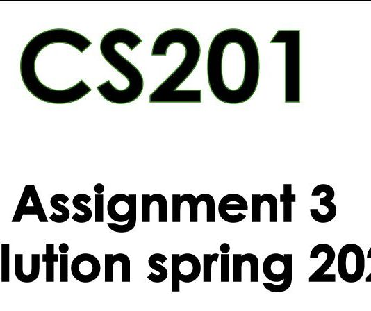 cs201 assignment 3 solution spring 2020