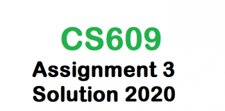 cs609 assignment 3 solution 2020