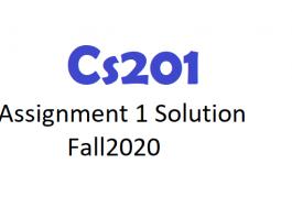 Cs201Assignment 1 Solution Fall2020