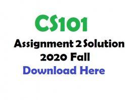 CS101 Assignment 2 Solution