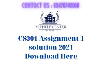 CS301-Assignment-1-solution-2021