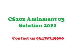 cs202 assignment 3 solution